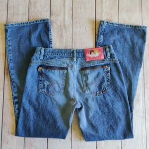Vintage Fiorucci zip pocket bootcut jeans sz 13